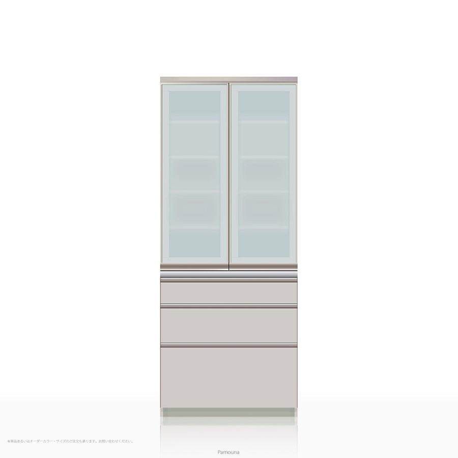 食器棚 Pamouna(パモウナ) IEシリーズ IE-S800K [開き扉] (幅80cm, 奥行き45cm, シルキーアッシュ色)