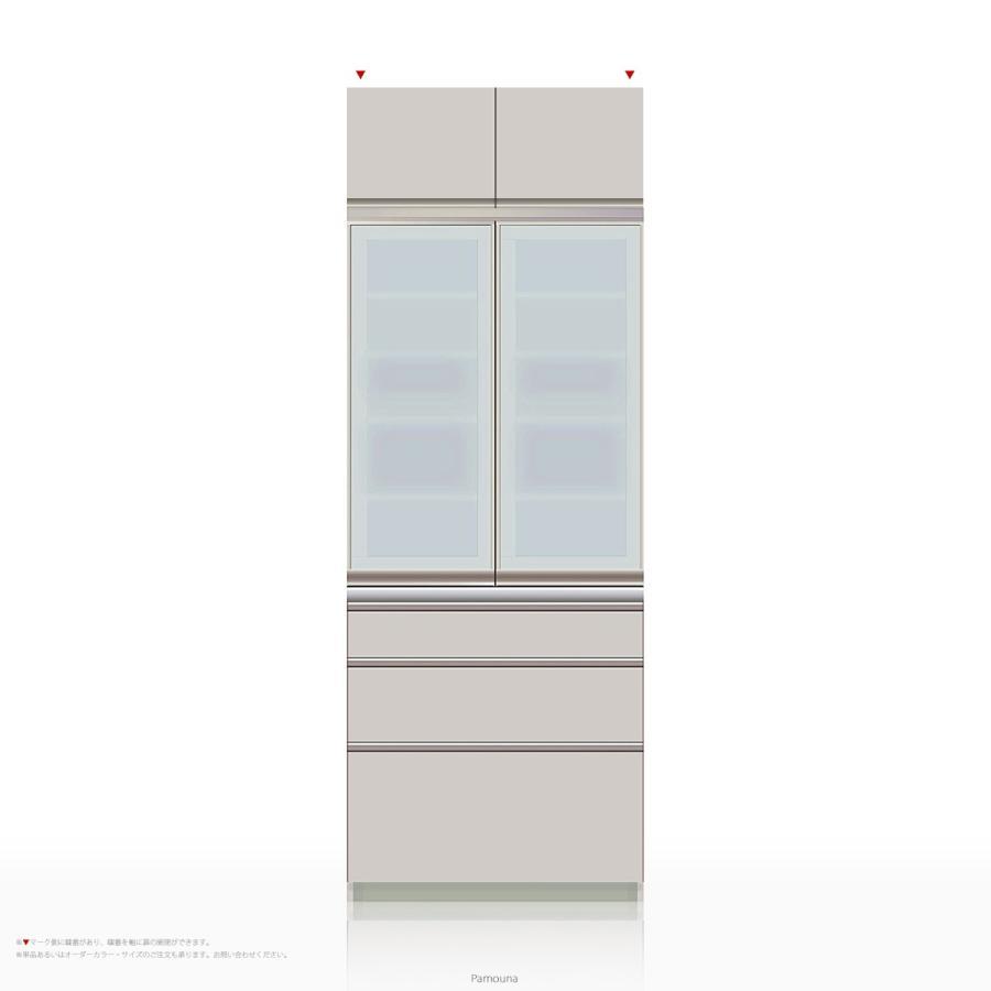 上棚付き食器棚 キッチンボード Pamouna(パモウナ) MEシリーズ ME-800K [開き扉] (幅80cm, 奥行き50cm, シルキーアッシュ色)