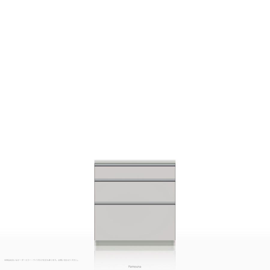 キッチンカウンター/食器棚の下台 Pamouna(パモウナ) WL/KLシリーズ WL-800K (幅80cm, 奥行き50cm, パールホワイト)