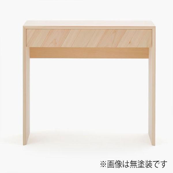 天然木 ミニデスク ヒノキ製 幅80cm 高級 日本製 机 書斎デスク【代引不可】【受注生産】