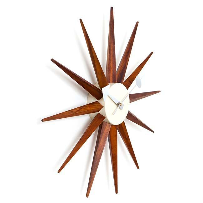 ジョージネルソン サンバーストクロック ブラウン ネルソンクロック 掛け時計 ウッドブラウン kagz 02