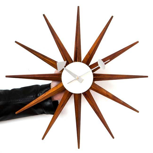 ジョージネルソン サンバーストクロック ブラウン ネルソンクロック 掛け時計 ウッドブラウン kagz 03