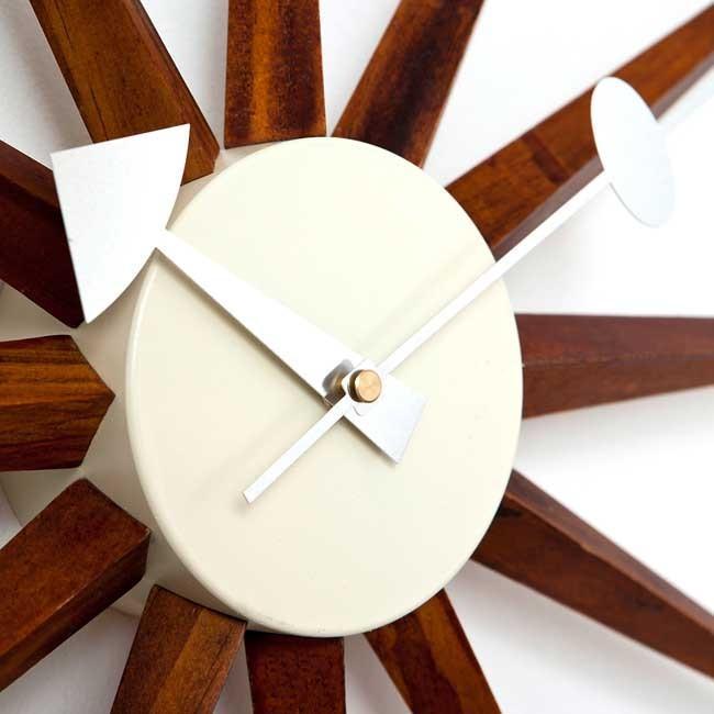 ジョージネルソン サンバーストクロック ブラウン ネルソンクロック 掛け時計 ウッドブラウン kagz 04