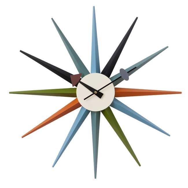 ジョージネルソン サンバーストクロック マルチカラー ネルソンクロック 掛け時計 マルチカラー kagz