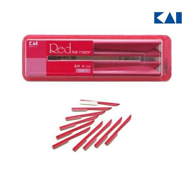 貝印 LR-10B1 長柄カミソリ 長柄 赤 奉呈 プレゼント 10本入り 2021 高級品 実用的
