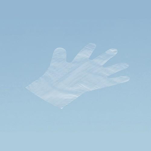 イージーグローブポリ(LD外エンボス)(M)   手袋・アームカバー