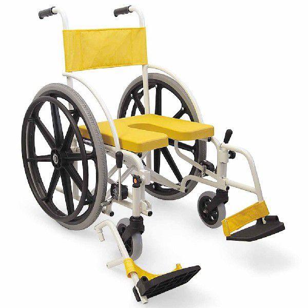 シャワーキャリー お風呂·入浴用車椅子 シャワー用車椅子 自走用·折りたたみ式 脚部脱着式 KS7 U字