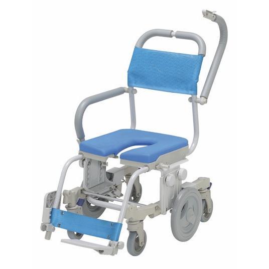 シャワーキャリー お風呂·入浴用車椅子 ウチエ6輪シャワーキャリー シャトレチェア6輪 U型座面