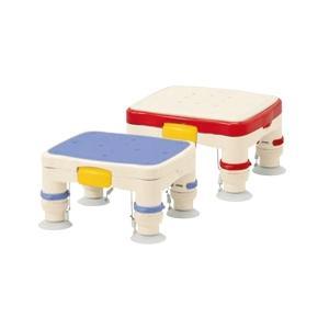プラスチック製で軽量!吸着しやすく、滑りにくい! 安寿 高さ調節付浴槽台R 「かるぴったん」ミニ(滑り止めシートタイプ) レッド / ブルー あすつく kaigomall-y