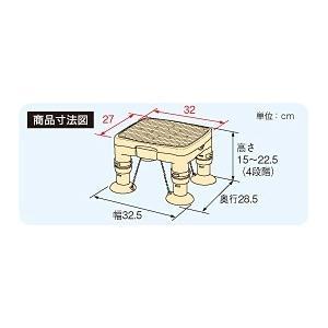 プラスチック製で軽量!吸着しやすく、滑りにくい! 安寿 高さ調節付浴槽台R 「かるぴったん」ミニ(滑り止めシートタイプ) レッド / ブルー あすつく kaigomall-y 02