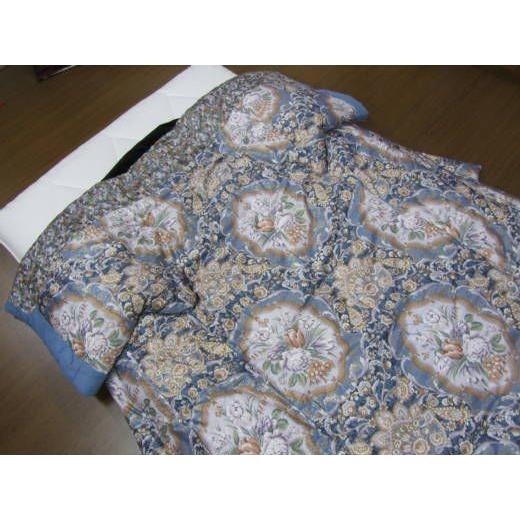 手作りかいまき掛布団 純綿わた薄がけ 洋風花柄 送料無料 日本製 和風寝具 どてら 夜着