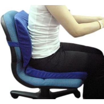 クッション 腰痛 姿勢 猫背対策 低反発 30×40 カバー付き 背当てクッション 日本製|kaiminclub