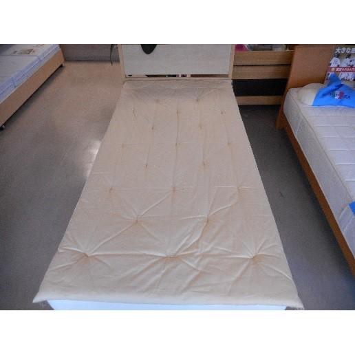 一級寝具技能士が作る極上の敷きふとん・ベットパット シングル2.0kg 超軽量 無地 ベージュ