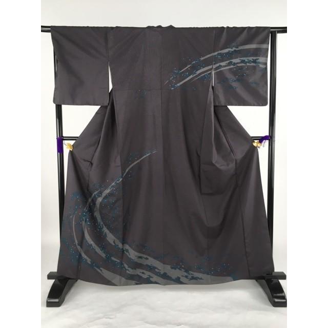 最高の品質の 着物 名品 訪問着 バイセル 濃紫 Mサイズ 紬地 流水 しぶき 正絹 袷(10月〜5月) 流水 162.5cm Mサイズ リサイクル バイセル, うまかねっと九州食材問屋発:e847e567 --- chizeng.com