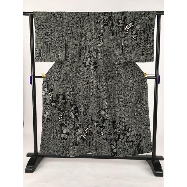 『5年保証』 着物 名品 訪問着 訪問着 黒色 絞り 破れ色紙 バイセル 草花 破れ色紙 有職文様 正絹 袷 身丈154cm 裄丈61.5cm リサイクル バイセル, SCOOPS:25391012 --- chizeng.com