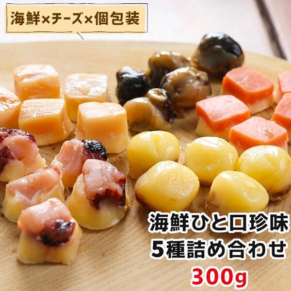 ひと口 海鮮 珍味 5種 詰め合わせ 300g お徳用 お得 おやつ 酒の肴 おつまみ セット チーズ 個包装  一口サイズ お取り寄せグルメ メール便|kaisenotaru-shop