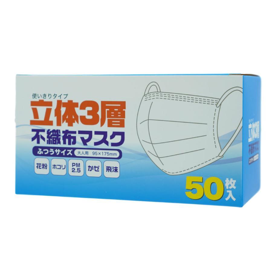 快適 使い切り 不織布 マスク ふつう サイズ 50 枚 入
