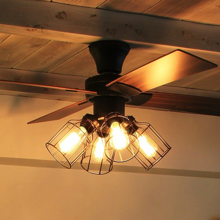 送料無料・一部地域を除く リモコン付 シーリングファン 4灯 4灯 クワドロ JE-CF001V ジャヴァロエルフ シーリングファンライト ファン 照明器