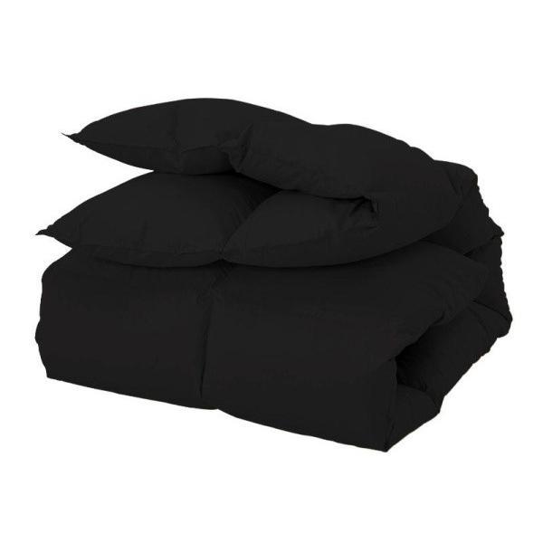 羽根掛け布団 の単品 の単品 ダブル 色-サイレントブラック