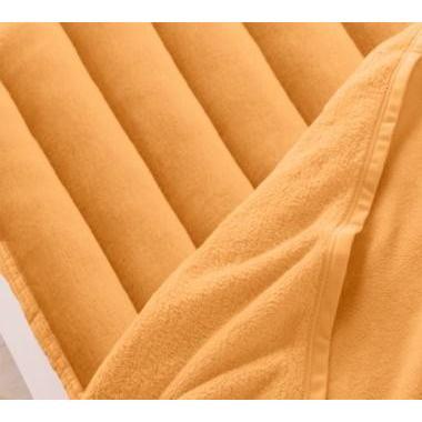 マイクロファイバー 厚い 敷きパッド一体型ボックスシーツ の単品(マットレス用) ワイドキング 色-サニーオレンジ