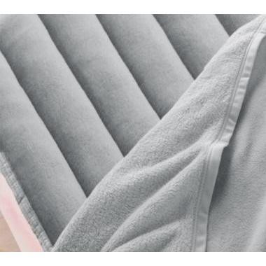 マイクロファイバー 厚い 敷きパッド一体型ボックスシーツ の単品(マットレス用) ワイドキング 色-シルバーアッシュ
