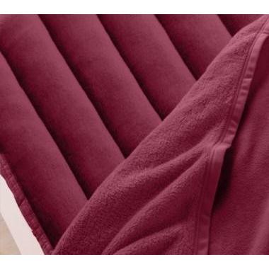 マイクロファイバー 厚い 敷きパッド一体型ボックスシーツ の単品(マットレス用) ワイドキング 色-ワインレッド