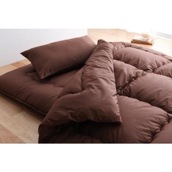 布団セット 和タイプ6点(高反発 敷布団の厚さ15cmタイプ) セミダブル セミダブル 色-ブラウン