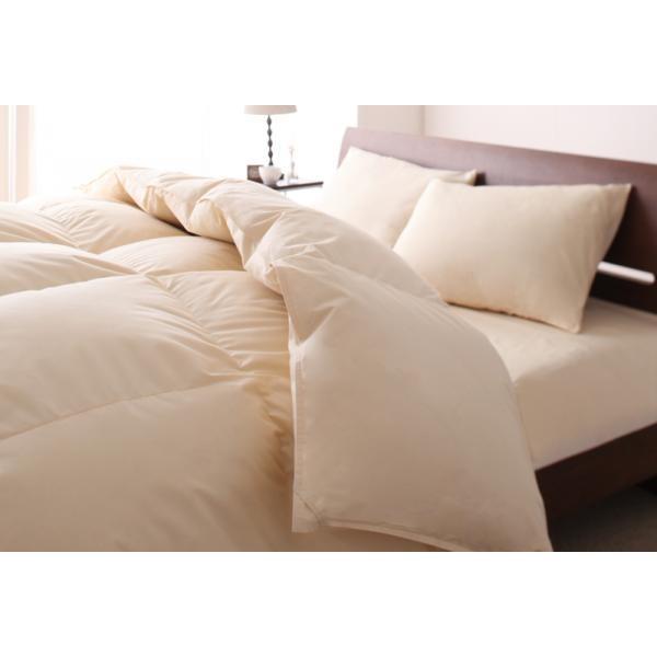 羽毛布団セット エクセルゴールドラベル(ホワイトダックダウン) ベッドタイプ シングル 色-アイボリー