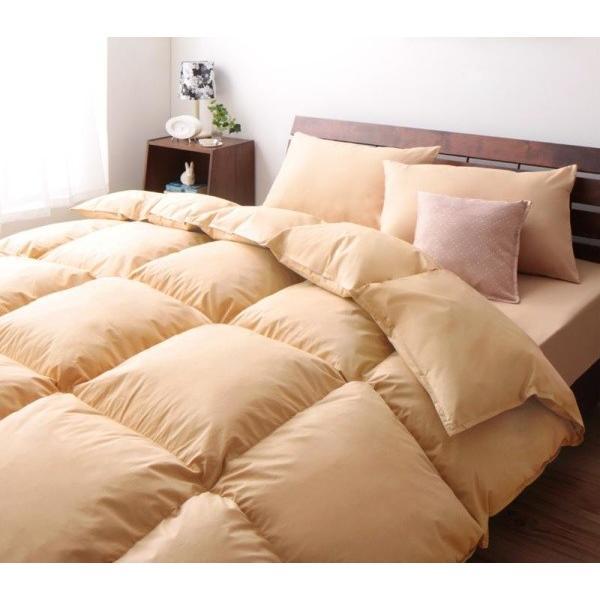 羽根布団セット ベッド用8点 セミダブル 色-ナチュラルベージュ 色-ナチュラルベージュ