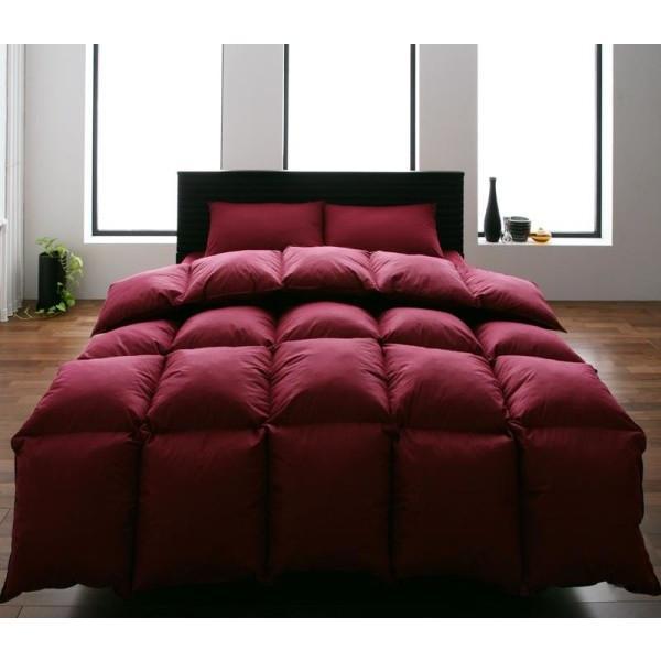 布団セット ベッド用10点 ダブル 色-ワインレッド /シンサレート高機能中綿素材入り 暖かい