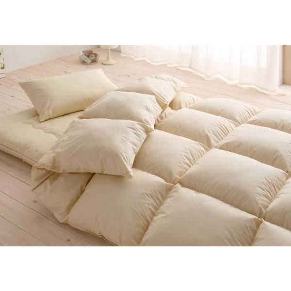 布団セット 和タイプ8点(プレミアム敷布団の厚さ15cmタイプ) シングル 色-アイボリー /シンサレート高機能中綿素材入り 暖かい