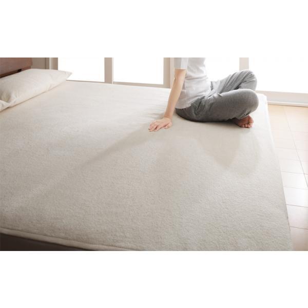 今治タオル 敷きパッド の単品(敷布団用 マットレス用) ワイドK240 色-アイボリー /国産 日本製 綿100%