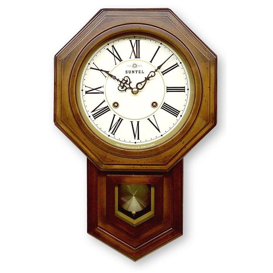 ボンボン振り子時計(ローマ文字) QL688R 八角渦ボン時計_/sgktb-5940an