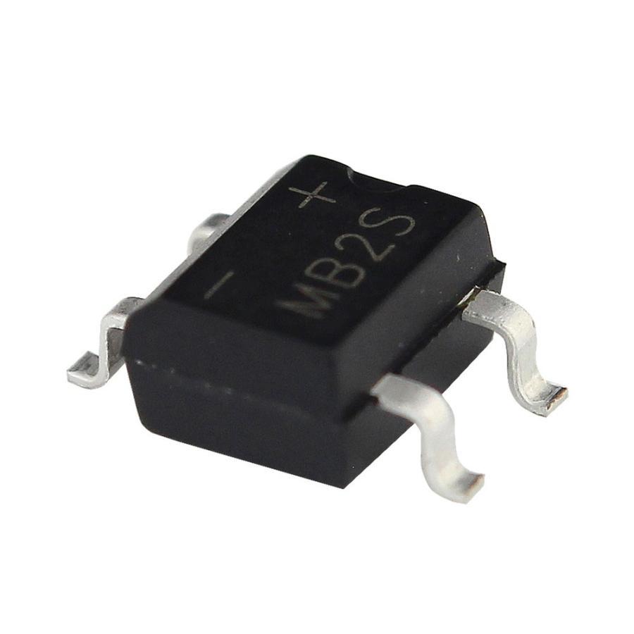 Kaito7718(10個) ブリッジダイオード整流器 MB2S 200V 500mA (SOIC-4) kaito-shop