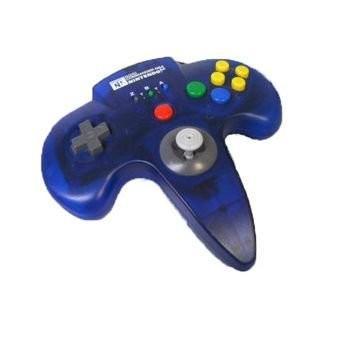 【送料無料】N64 ホリコマンダー64 クリアブルー N64 コントローラー 本体