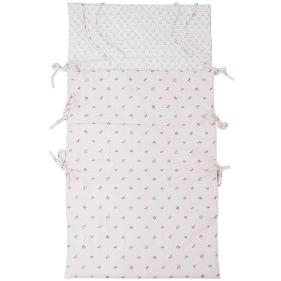 エルメス ベビー H102177M01 HERMES シュラフ おくるみ ソルド アニモー·ドゥ·ラ·フォレ コットン ローズパール/ピンク 寝袋