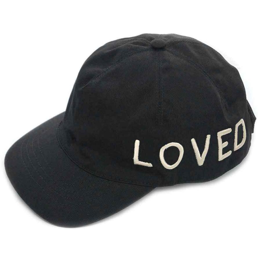 【中古 美品】グッチ 帽子 478948 GUCCI エンブロイダリー ベースボールキャップ L 59サイズ LOVE ブラック YJ3624|kaitsukedoh|07