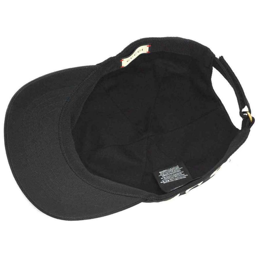 【中古 美品】グッチ 帽子 478948 GUCCI エンブロイダリー ベースボールキャップ L 59サイズ LOVE ブラック YJ3624|kaitsukedoh|09