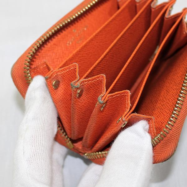 【中古】ルイヴィトン 財布 M60908 LOUIS VUITTON ヴィトン モノグラム LV コインケース ミュルティカルト ピモン オレンジ YJL04127-01201|kaitsukedoh|08