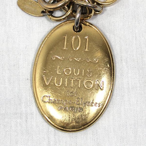 【中古】ルイヴィトン キーリング M65086 LOUIS VUITTON ヴィトン LV キーホルダー ポルトクレ・メゾン ゴールド YJL04140-01126 kaitsukedoh 03