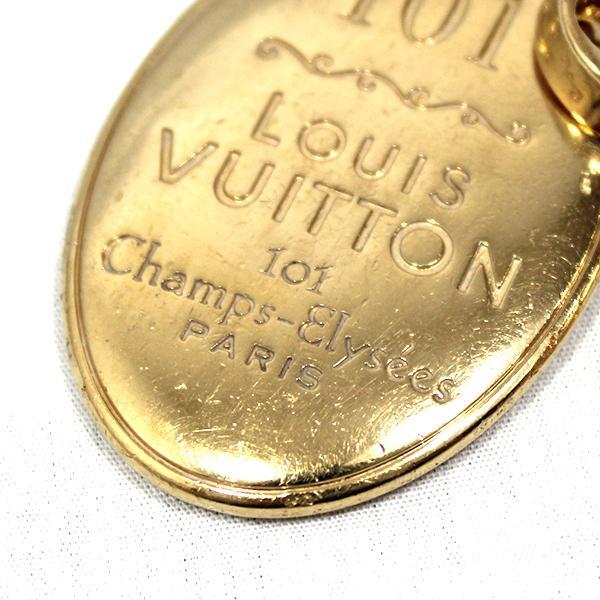 【中古】ルイヴィトン キーリング M65086 LOUIS VUITTON ヴィトン LV キーホルダー ポルトクレ・メゾン ゴールド YJL04140-01126 kaitsukedoh 04