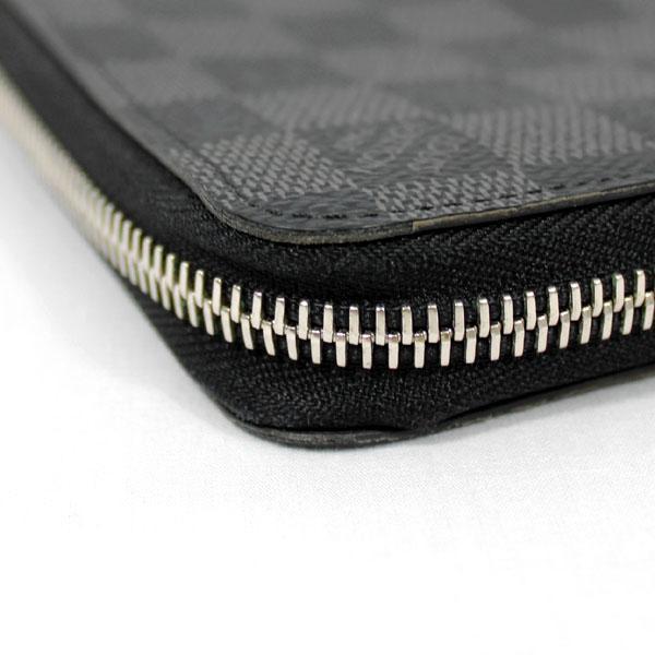 【中古】ルイヴィトン 財布 N63095 LOUIS VUITTON ダミエ・グラフィット LV ジッピーウォレット・ヴェルティカル ブラック YJL3741|kaitsukedoh|05