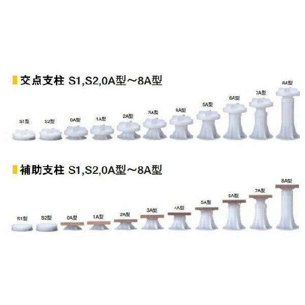 交点支柱・補助支柱【7A型】木質系OAフロアLMシリーズ用/フクビOAフロアー/フリーアクセスフロア|kaiwakuukan