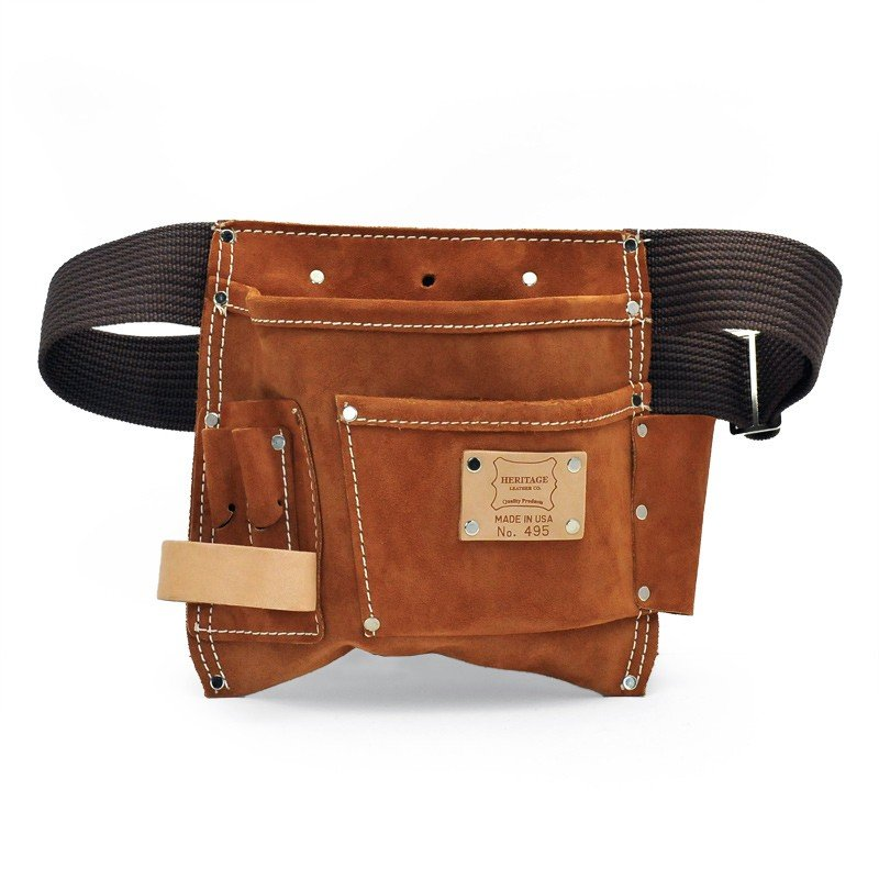 Heritage Leather | 495(ヘリテージレザー)5ポケットネイル&ツールポーチ 5PKT NAIL & TOOL POUCH