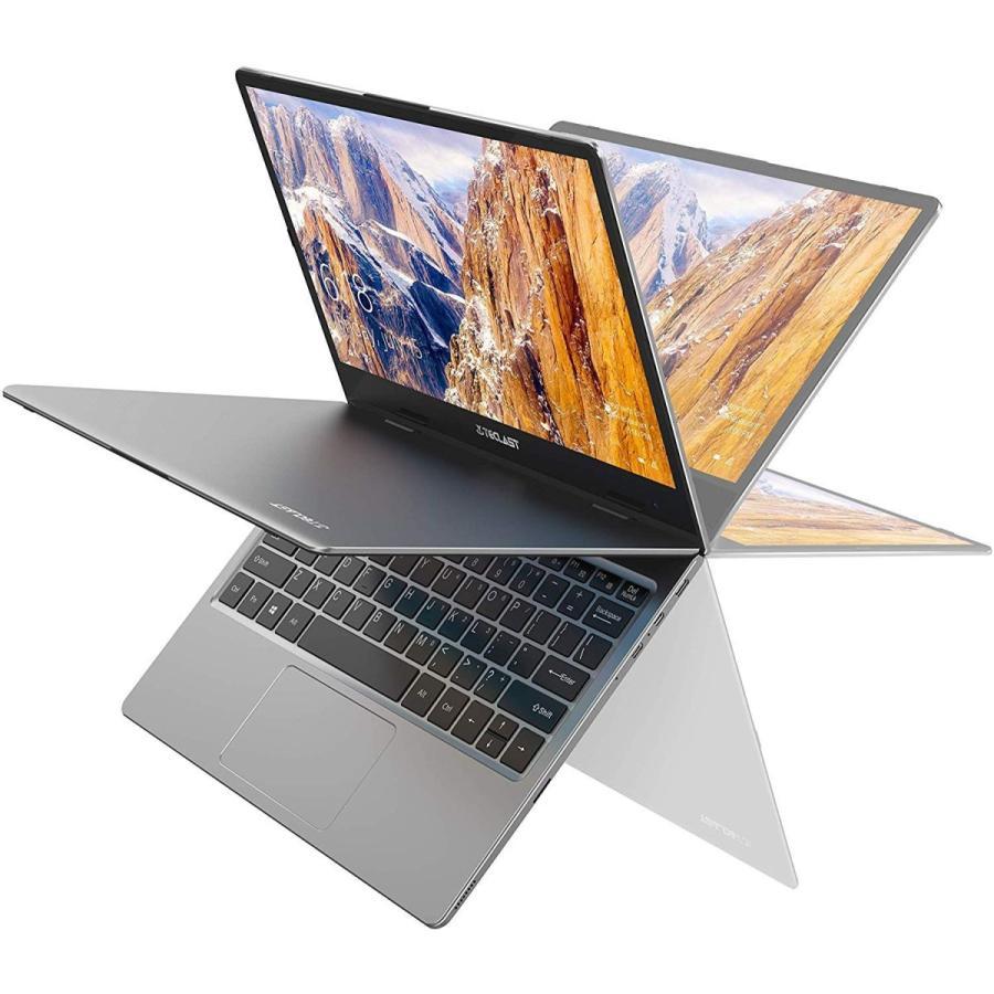 TECLAST F5 ノートパソコン 11.6インチ タッチスクリーン 360°自由回転でき ノート PC、8GB+256GB SSD、4コアCele