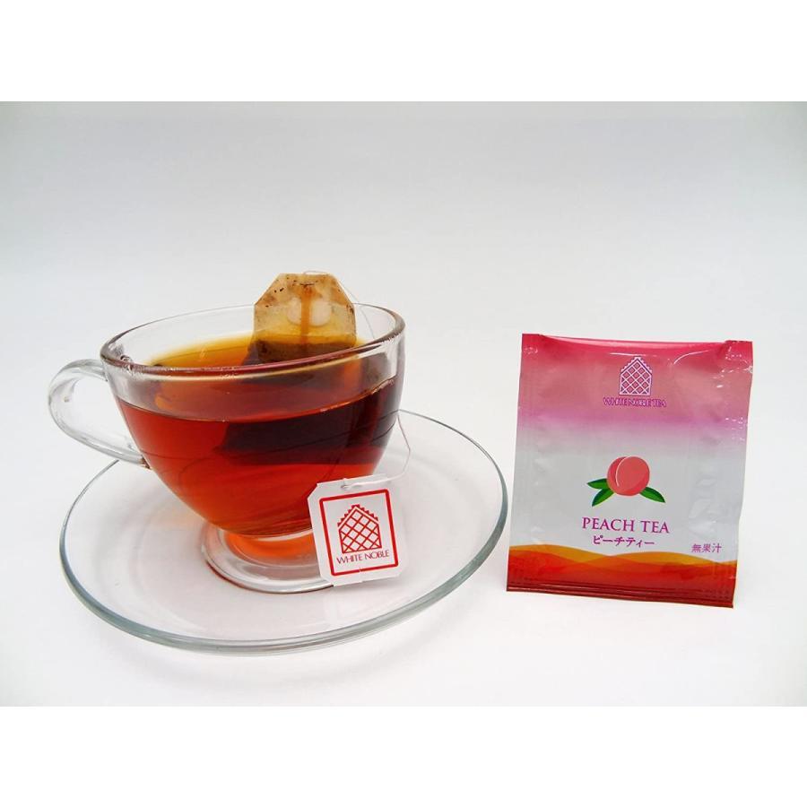 三井農林 ホワイトノーブル紅茶 ( アルミ・ティーバッグ ) ピーチ 2.2g×50個|kakastore|04