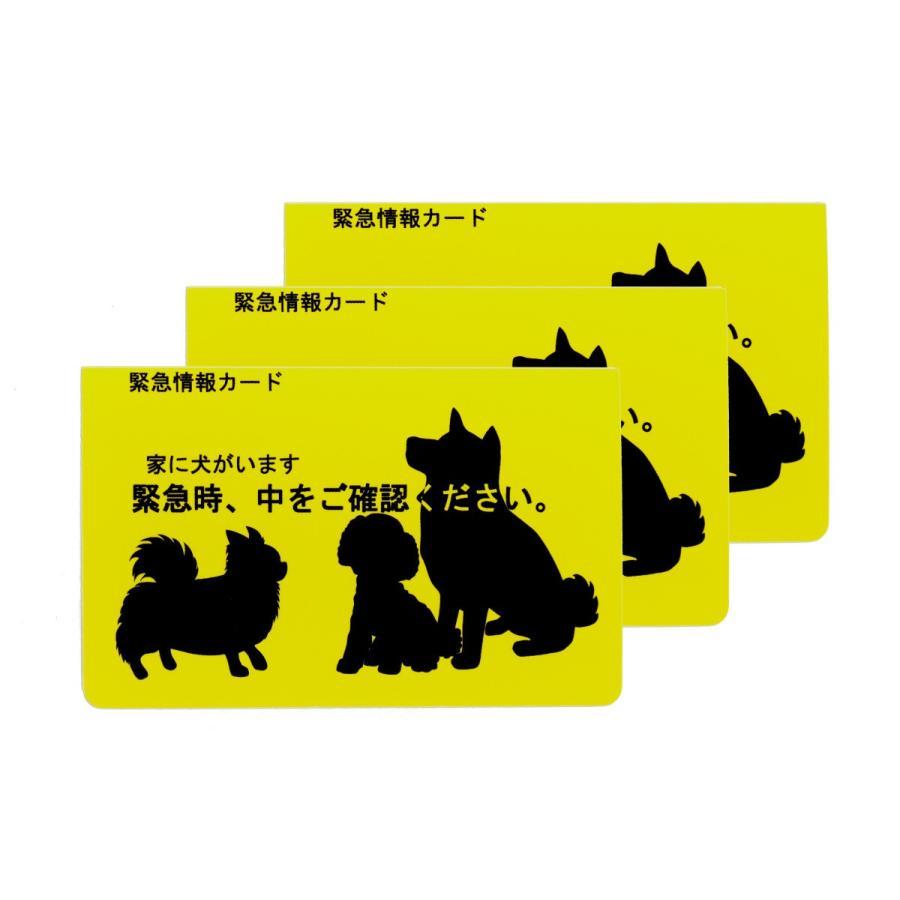 希少 家に犬がいます 緊急情報カード クレジットカードサイズ 3枚セット 激安超特価