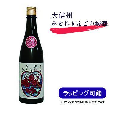 日本酒 梅酒 大信州 みぞれりんごの梅酒 南高梅 吟撰仕込み 越ちひろ 720ml お歳暮|kakuuchi