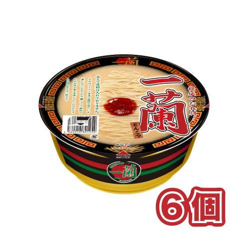 一蘭 カップ麺 6個セット まとめ買い 取り寄せ ご当地ラーメン とんこつラーメン 博多 アウトレットセール 特集 秘伝のタレ付き 名店 グルメ セール価格 とんこつ