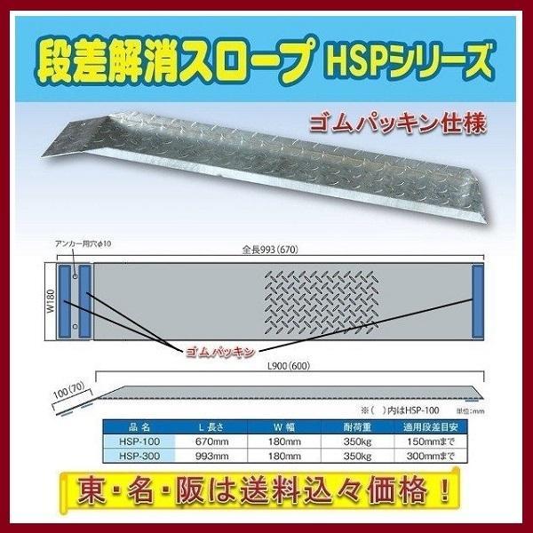 段差解消スロープHSP-300G ゴム仕様1本 東名阪は送料込々 海外 70%OFFアウトレット